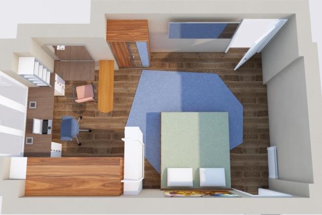 Создам планировку дома, квартиры с мебелью 28 - kwork.ru