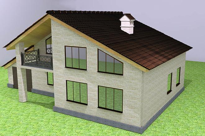 Экстерьеры. 3д модели домов 1 - kwork.ru