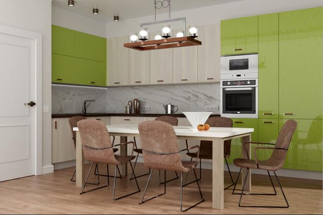 Дизайн-проект кухни. 3 варианта 26 - kwork.ru