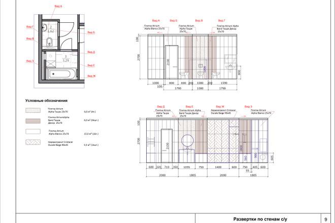 Дизайн ванной комнаты 5 - kwork.ru