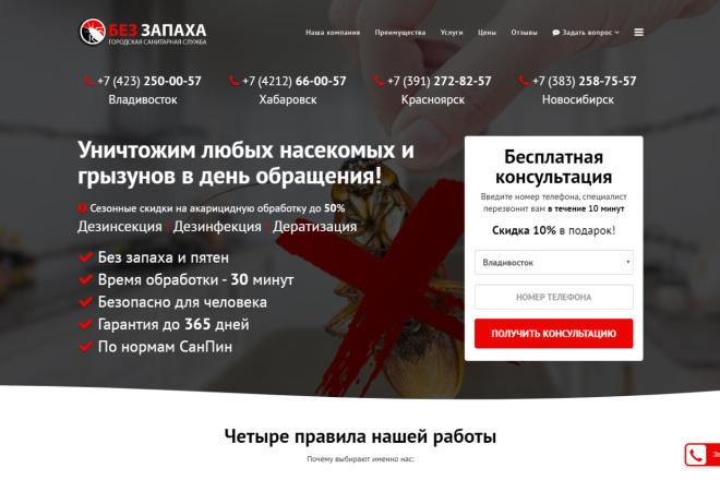 Копия сайта, landing page + админка и настройка форм на почту 37 - kwork.ru