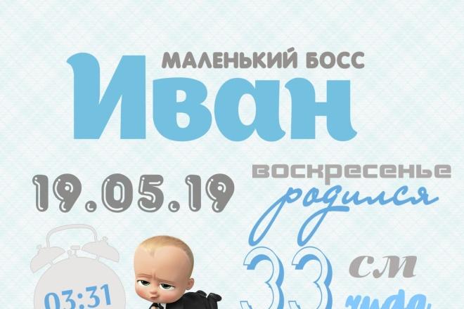 Дизайн метрики и плаката на выписку 3 - kwork.ru