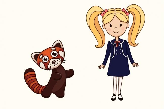 Нарисую мультяшных персонажей 15 - kwork.ru