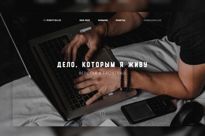 Верстка блока сайта по готовому дизайну 3 - kwork.ru
