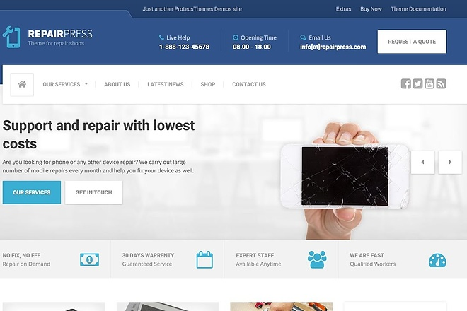 Тема RepairPress с плагинами для WordPress на русском с обновлениями 20 - kwork.ru