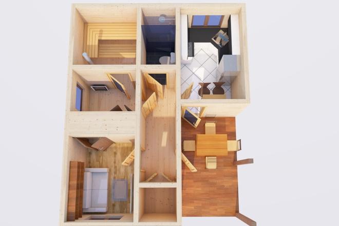 Оцифровка плана этажа, перечерчивание плана дома в Archicad 15 - kwork.ru