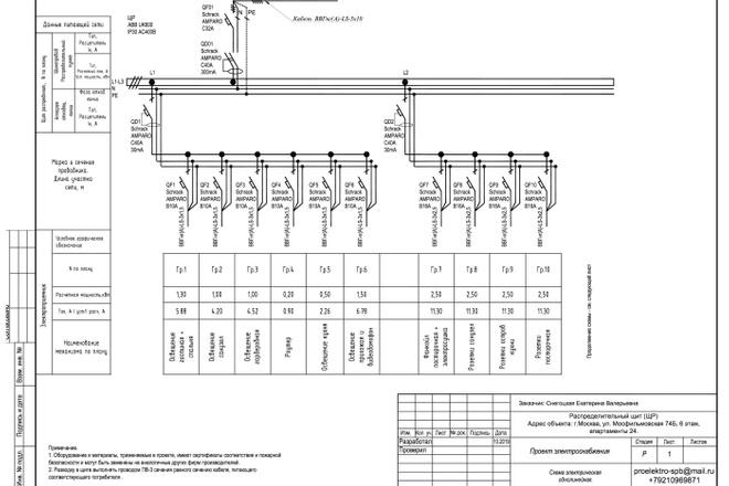 Выполню однолинейную схему электроснабжения 33 - kwork.ru