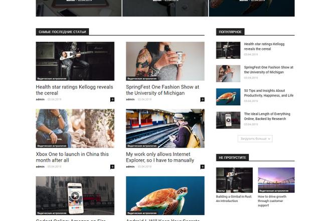 Создам красивый адаптивный блог, новостной сайт 11 - kwork.ru