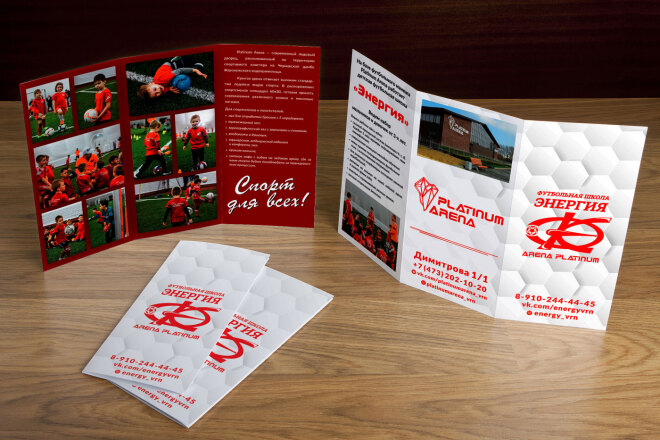 Дизайн-макет буклета, евробуклета 3 - kwork.ru