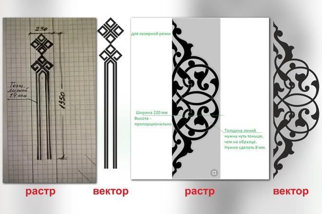 Отрисовка в векторе, формат Coreldraw, по рисунку, фото, сканированию 31 - kwork.ru