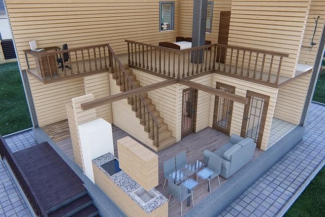 Фотореалистичная 3D визуализация экстерьера Вашего дома 137 - kwork.ru