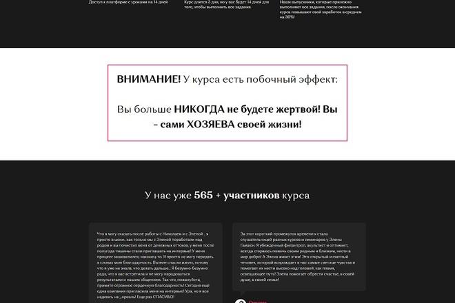 Создание современного лендинга на конструкторе Тильда 7 - kwork.ru