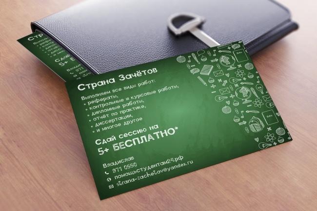 Создам индивидуальную визитку 11 - kwork.ru
