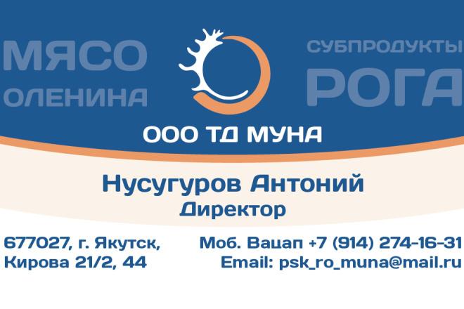 2 варианта дизайна макета визиток 4+4 от профессионального дизайнера 2 - kwork.ru