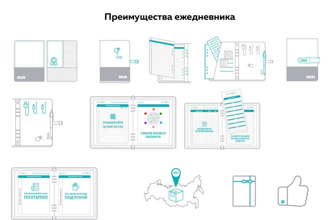 Нарисую векторные иконки для сайта, соц. сетей, приложения 4 - kwork.ru