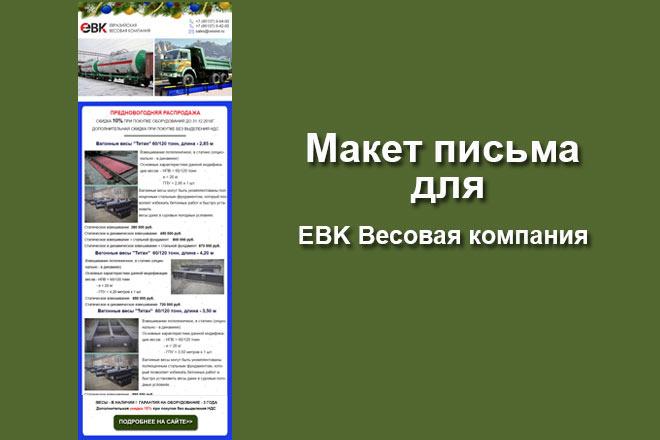 Создам html письмо для e-mail рассылки -адаптация + дизайн 45 - kwork.ru