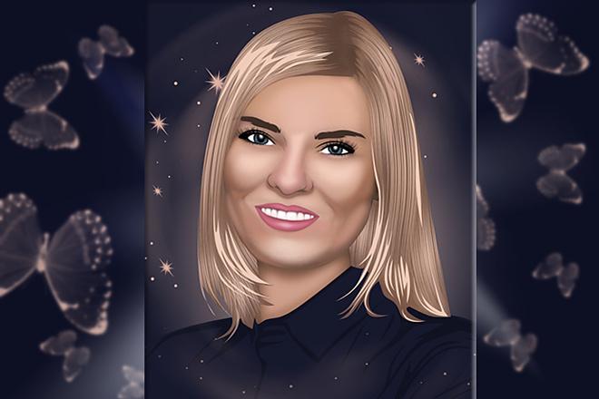 Векторный портрет 5 - kwork.ru