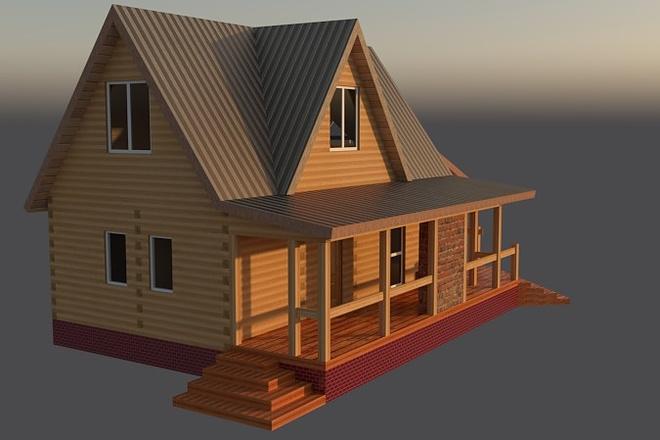 Сделаю 3D проект каркасного дома 6 - kwork.ru