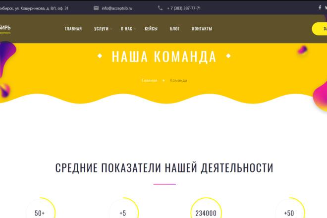 Верстка, Адаптация HTML, CSS, JS из PSD 8 - kwork.ru
