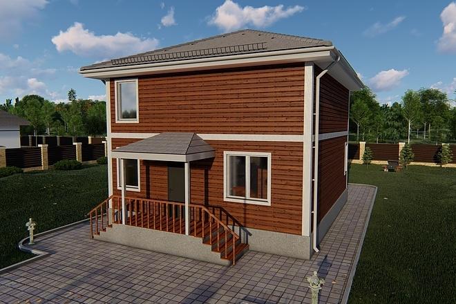 Фотореалистичная 3D визуализация экстерьера Вашего дома 143 - kwork.ru