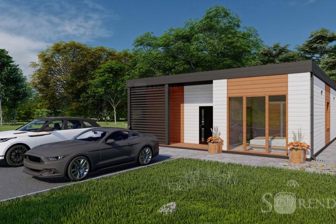 Фотореалистичная 3D визуализация экстерьера Вашего дома 27 - kwork.ru