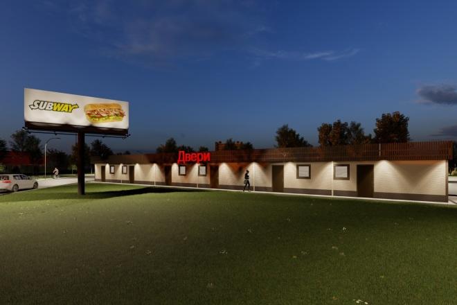Фотореалистичная 3D визуализация экстерьера Вашего дома 80 - kwork.ru