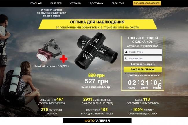 Скопировать лендинг 8 - kwork.ru