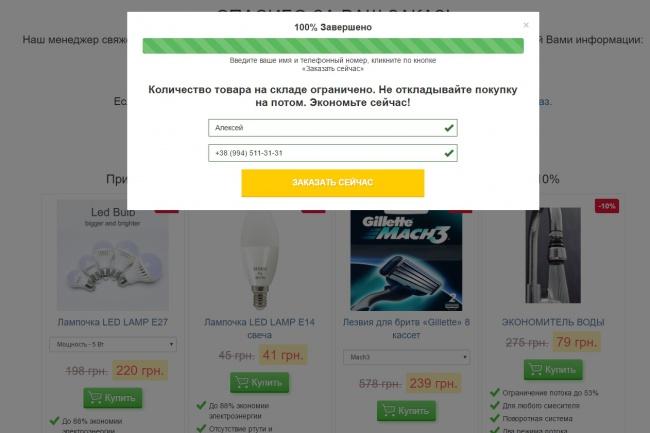 Скопировать лендинг 10 - kwork.ru