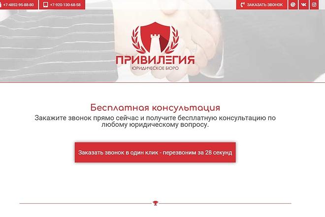 Лендинг для любых целей на Wordpress 74 - kwork.ru