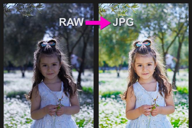 Для проф. фотографов - конвертация фото из RAW в JPG, 100 штук 10 - kwork.ru