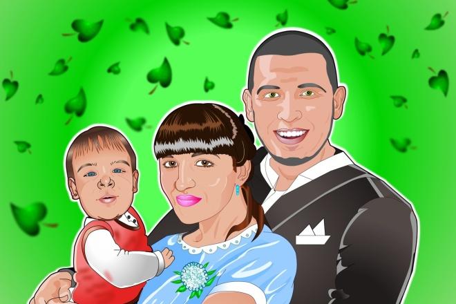 Нарисую портрет - шарж по фото 5 - kwork.ru