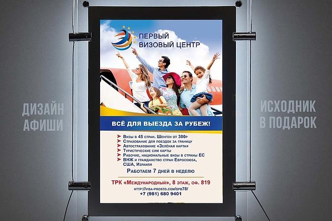 Разработаю дизайн рекламного постера, афиши, плаката 38 - kwork.ru