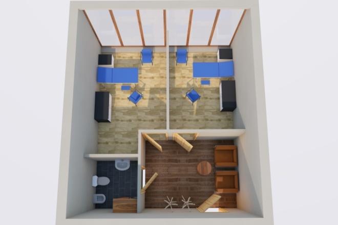 Создам планировку дома, квартиры с мебелью 44 - kwork.ru