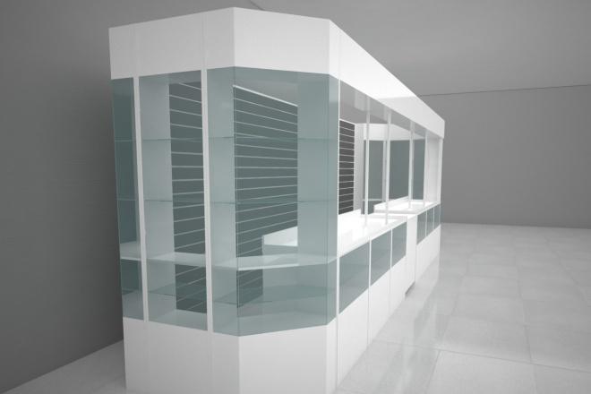 Визуализация торгового помещения, островка 24 - kwork.ru