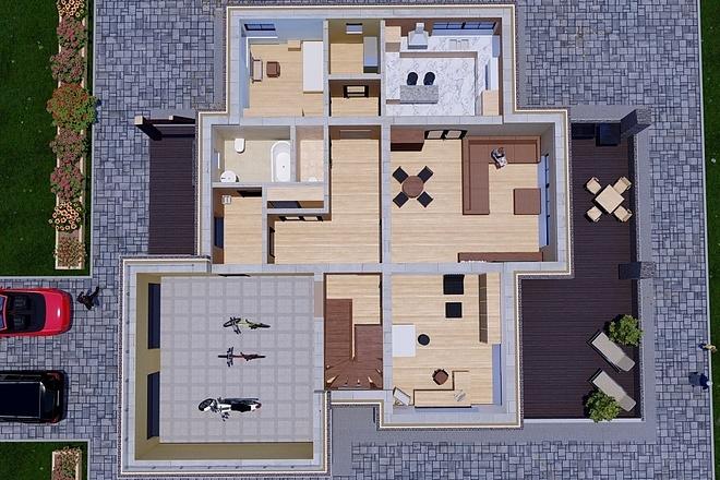 Фотореалистичная 3D визуализация экстерьера Вашего дома 188 - kwork.ru