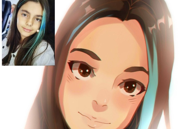 Создам ваш портрет в стиле аниме 42 - kwork.ru