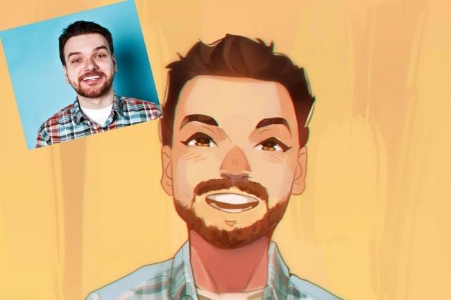 Создам ваш портрет в стиле аниме 40 - kwork.ru