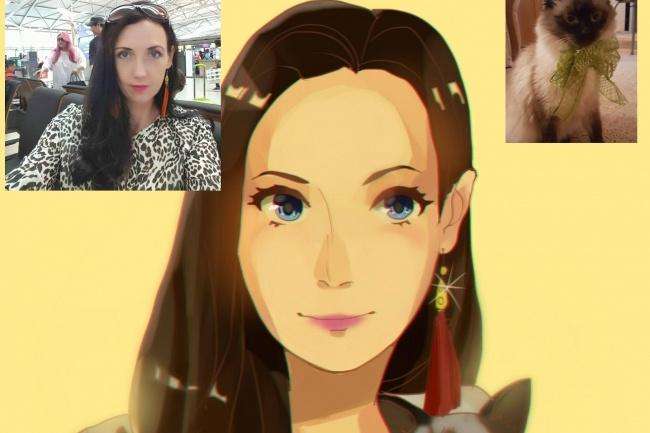 Создам ваш портрет в стиле аниме 41 - kwork.ru
