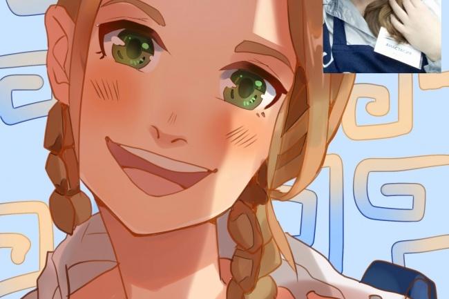 Создам ваш портрет в стиле аниме 39 - kwork.ru