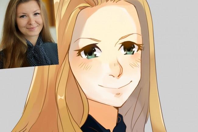 Создам ваш портрет в стиле аниме 35 - kwork.ru