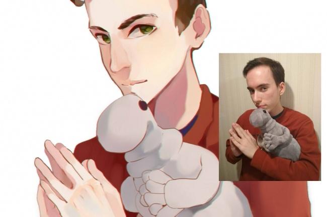 Создам ваш портрет в стиле аниме 44 - kwork.ru