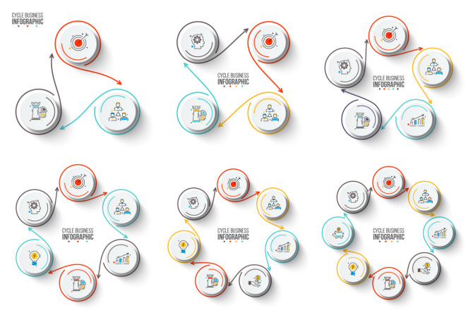 Набор инфографики. 13 тематик, 800 шаблонов, 2 пакета иконок 26 - kwork.ru