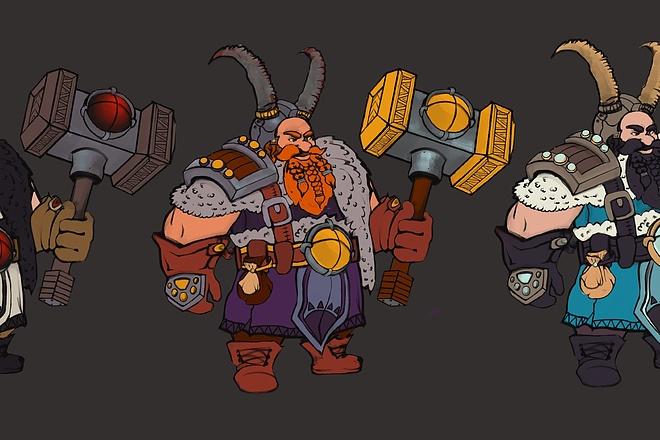 Создам и отрисую коммерческого персонажа 3 - kwork.ru