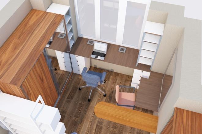 Создам планировку дома, квартиры с мебелью 27 - kwork.ru