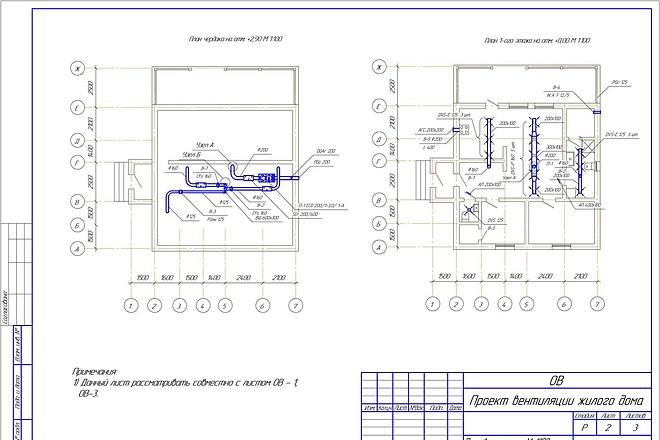 Проектирование вентиляции 32 - kwork.ru