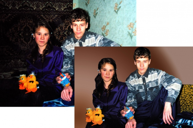 Реставрация старых фотографий 2 - kwork.ru