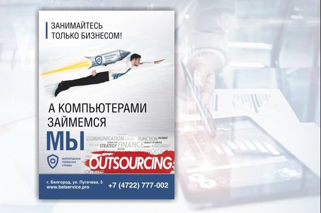 Широкоформатный баннер, качественно и быстро 58 - kwork.ru