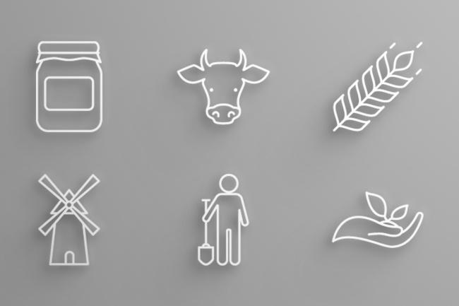6 иконок в едином стиле 3 - kwork.ru