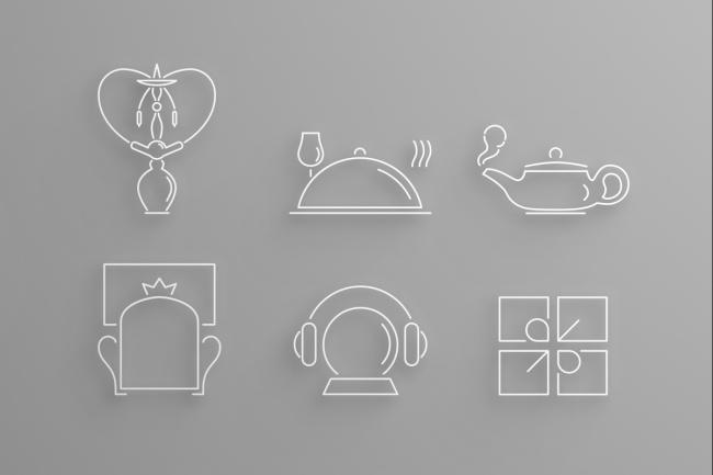 6 иконок в едином стиле 2 - kwork.ru