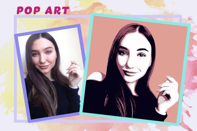 Нарисую портрет в стиле Pop Art,Comics Art, Stik Art 38 - kwork.ru
